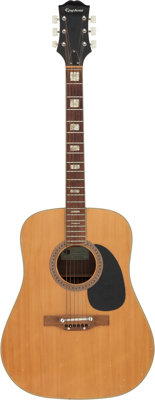 Bob Dylan Played Epiphone Acoustic Guitar owned by Barry Goldberg