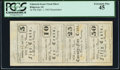 Obsoletes By State:South Carolina, Ridgeway, SC- Unknown Issuer 5¢-10¢-25¢-50¢ Sep. 1, 1865 Uncut Sheet PCGS Extremely Fine 45.. ...