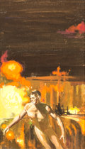 Original Comic Art:Covers, Jack Faragasso - Science-Fiction Cover Painting Original Art (undated). ...