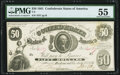 Confederate Notes:1861 Issues, T8 $50 1861 PF-4 Cr. 18 PMG About Uncirculated 55.. ...