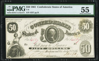 T8 $50 1861 PF-4 Cr. 18 PMG About Uncirculated 55