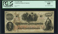Confederate Notes:1862 Issues, T41 $100 1862 PF-59 Cr. 326A PCGS Very Choice New 64.. ...