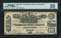 Confederate Notes:1861 Issues, T-29 $10 1861 PF-1 Cr. 237 PMG Choice Very Fine 35.. ...