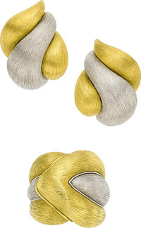 Platinum, Gold Jewelry Suite, Henry Dunay