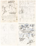 Original Comic Art:Miscellaneous, Wally Wood T.H.U.N.D.E.R. Agents #1 and Dynamo #2 Preliminary Story Page Original Art Group of 15 (Tow... (Total: 15 Original Art)