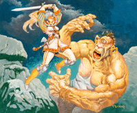 """Mike Ploog Magic: The Gathering: Seventh Edition """"Intrepid Hero"""" Card Painting Original Art (Wizards of the Co..."""