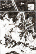 Original Comic Art:Splash Pages, Mike Mignola Dark Horse Maverick 2001 Hellboy and the Nuckelavee Pin-Up Illustration Original Art (Dark Horse, 200...