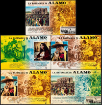 "The Alamo (United Artists, 1961). Folded, Fine/Very Fine. Italian Photobustas (5) (26.5"" X 18.25""). Western..."