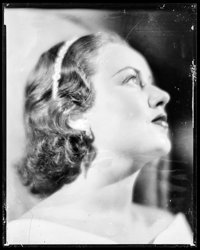 "Fay Wray & Other Lot (1930s). Overall: Fine+. Eastman Nitrate Kodak Negatives (2) (7.75"" X 9.75""). Mis..."