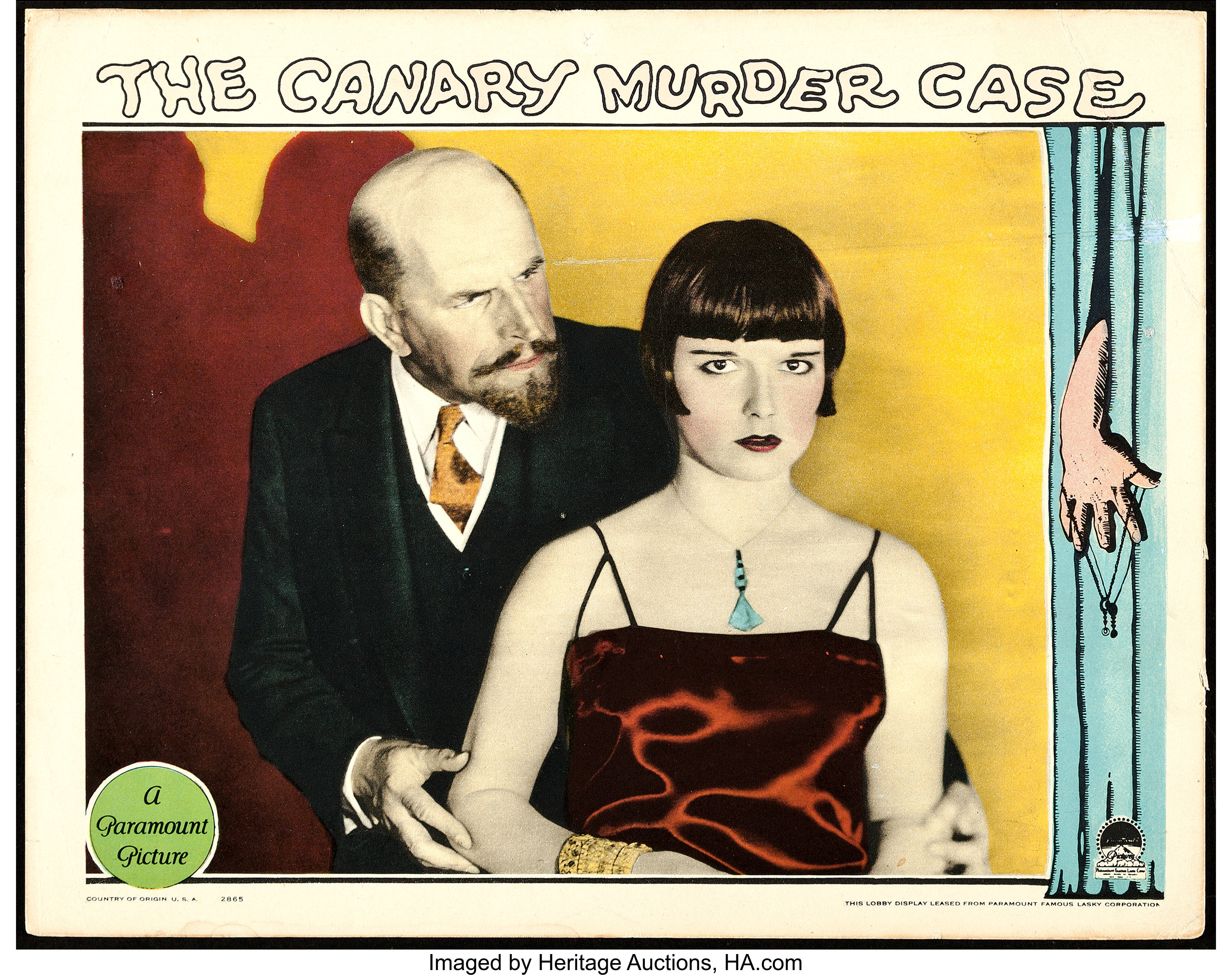 THE CAT AND THE CANARY MOVIE POSTER Rare Hot Vintage