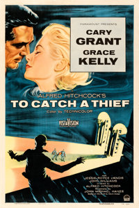 "To Catch a Thief (Paramount, 1955). Fine+ on Linen. One Sheet (27"" X 41"")"