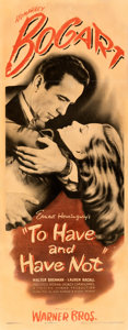 """Movie Posters:Film Noir, To Have and Have Not (Warner Bros., 1944). Fine on Paper. Insert (14"""" X 36"""").. ..."""