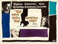 """Movie Posters:Drama, The Man with the Golden Arm (United Artists, 1955). Folded, Fine+. British Quad (30"""" X 40""""). Saul Bass Artwork.. ..."""