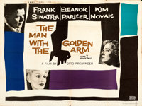"""The Man with the Golden Arm (United Artists, 1955). Folded, Fine+. British Quad (30"""" X 40""""). Saul Bass Artwork..."""