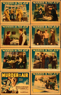 "Murder in the Air (Warner Bros., 1940). Very Fine-. Linen Finish Lobby Card Set of 8 (11"" X 14""). ... (Total:..."