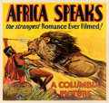 "Movie Posters:Documentary, Africa Speaks! (Columbia, 1930). Good- on Linen. Six Sheet (83"" X 78.5"").. ..."