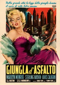 "The Asphalt Jungle (Variety Film, R-1959). Very Fine- on Linen. Italian 4 - Fogli (55"" X 77.75"") Angelo Cessel..."