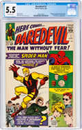 Silver Age (1956-1969):Superhero, Daredevil #1 (Marvel, 1964) CGC FN- 5.5 Off-white pages.