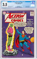 Silver Age (1956-1969):Superhero, Action Comics #242 (DC, 1958) CGC VG- 3.5 Cream to off-white pages....