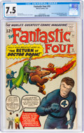 Silver Age (1956-1969):Superhero, Fantastic Four #10 (Marvel, 1963) CGC VF- 7.5 Cream to off-white pages....