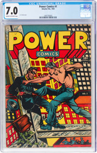 Power Comics #1 (Holyoke Publications, 1944) CGC FN/VF 7.0 Cream to off-white pages