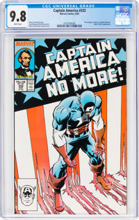 Captain America #332 (Marvel, 1987) CGC NM/MT 9.8 White pages