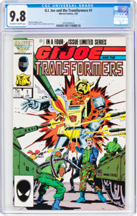 G. I. Joe and the Transformers #1 (Marvel, 1987) CGC NM/MT 9.8 Off-white to white pages