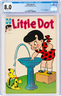 Little Dot #2 (Harvey, 1953) CGC VF 8.0 Off-white pages
