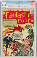 Silver Age (1956-1969):Superhero, Fantastic Four #6 (Marvel, 1962) CGC FN 6.0 White pages.