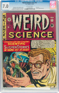 Golden Age (1938-1955):Science Fiction, Weird Science #12 (#1) (EC, 1950) CGC FN/VF 7.0 Off-white pages....