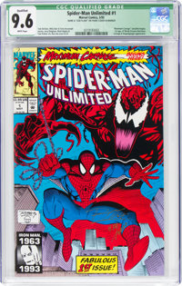 Spider-Man Unlimited #1 (Marvel, 1993) CGC Qualified NM+ 9.6 White pages