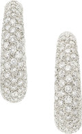 Estate Jewelry:Earrings, Diamond, Platinum, White Gold Earrings, Neiman Marcus. ...