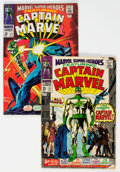 Silver Age (1956-1969):Superhero, Marvel Super-Heroes #12 and 13 Captain Marvel Group (Marvel, 1967-68) Condition: Average GD.... (Total: 2 Comic Books)