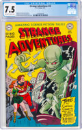 Golden Age (1938-1955):Science Fiction, Strange Adventures #10 (DC, 1951) CGC VF- 7.5 Off-white to white pages....