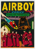 Golden Age (1938-1955):War, Airboy Comics V3#5 (Hillman Fall, 1946) Condition: VF-....