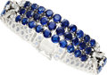 Estate Jewelry:Bracelets, Sapphire, Diamond, Platinum Bracelet, Gazdar . ...
