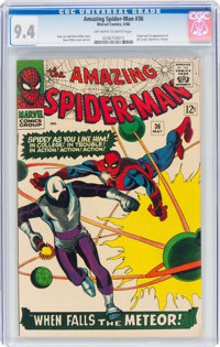 The Amazing Spider-Man #36 (Marvel, 1966) CGC NM 9.4 Off-white to white pages