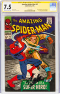 Silver Age (1956-1969):Superhero, The Amazing Spider-Man #42 Signature Series Signed by Stan...