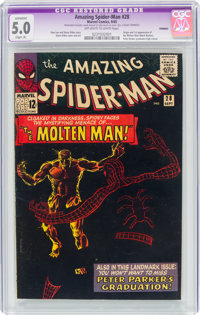 The Amazing Spider-Man #28 Trimmed (Marvel, 1965) CGC Apparent VG/FN 5.0 Slight (A) Off-white to white pages
