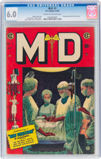 M.D. #1 (EC, 1955) CGC FN 6.0 Cream to off-white pages