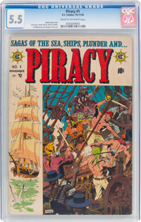 Piracy #1 (EC, 1954) CGC FN- 5.5 Cream to off-white pages