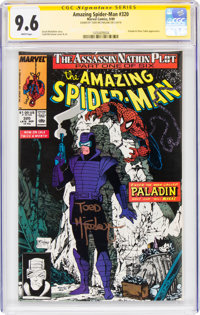 The Amazing Spider-Man #320 Signature Series Signed by Todd McFarlane (Marvel, 1989) CGC NM+ 9.6 White pages