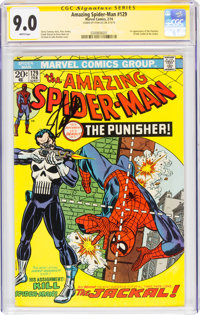 The Amazing Spider-Man #129 Signature Series Signed by Stan Lee(Marvel, 1974) CGC VF/NM 9.0 White pages