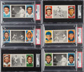 Baseball Cards:Lots, 1912 T202 Hassan Triple Folders Graded Collection (13). ...
