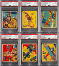 Non-Sport Cards:Lots, 1934 National Chicle Sky Birds Collection (15) - Includes 10 PSA Graded Cards....