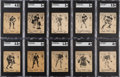 Hockey Cards:Lots, 1936 O-Pee-Chee D-Series Hockey SGC Graded Collection (10)....