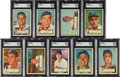 Baseball Cards:Lots, 1952 Topps Baseball High Number SGC Graded Collection (9)....
