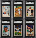 Baseball Cards:Sets, 1951 Bowman Baseball Complete Set (324) With Mantle SGC EX 5....
