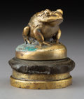 Metalwork, French Gilt Bronze Frog-Form Hood Ornament, circa 1920. 3 inches (7.6 cm) (overall). ...