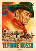 "Movie Posters:Western, Red River (Gold Film, R-1963). Folded, Very Fine-. Italian 4 - Fogli (55.25"" X 78"") Renato Casaro Artwork.. ..."